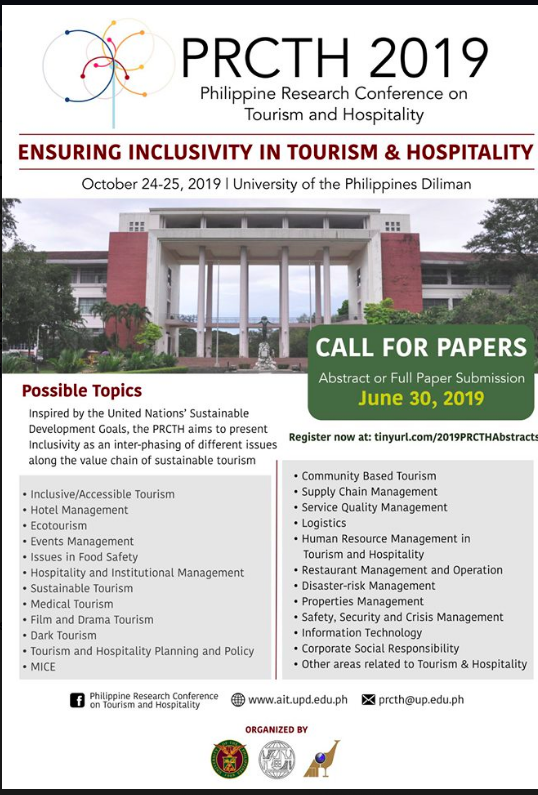 The 3rd Philippine Research Conference on Tourism and Hospitality